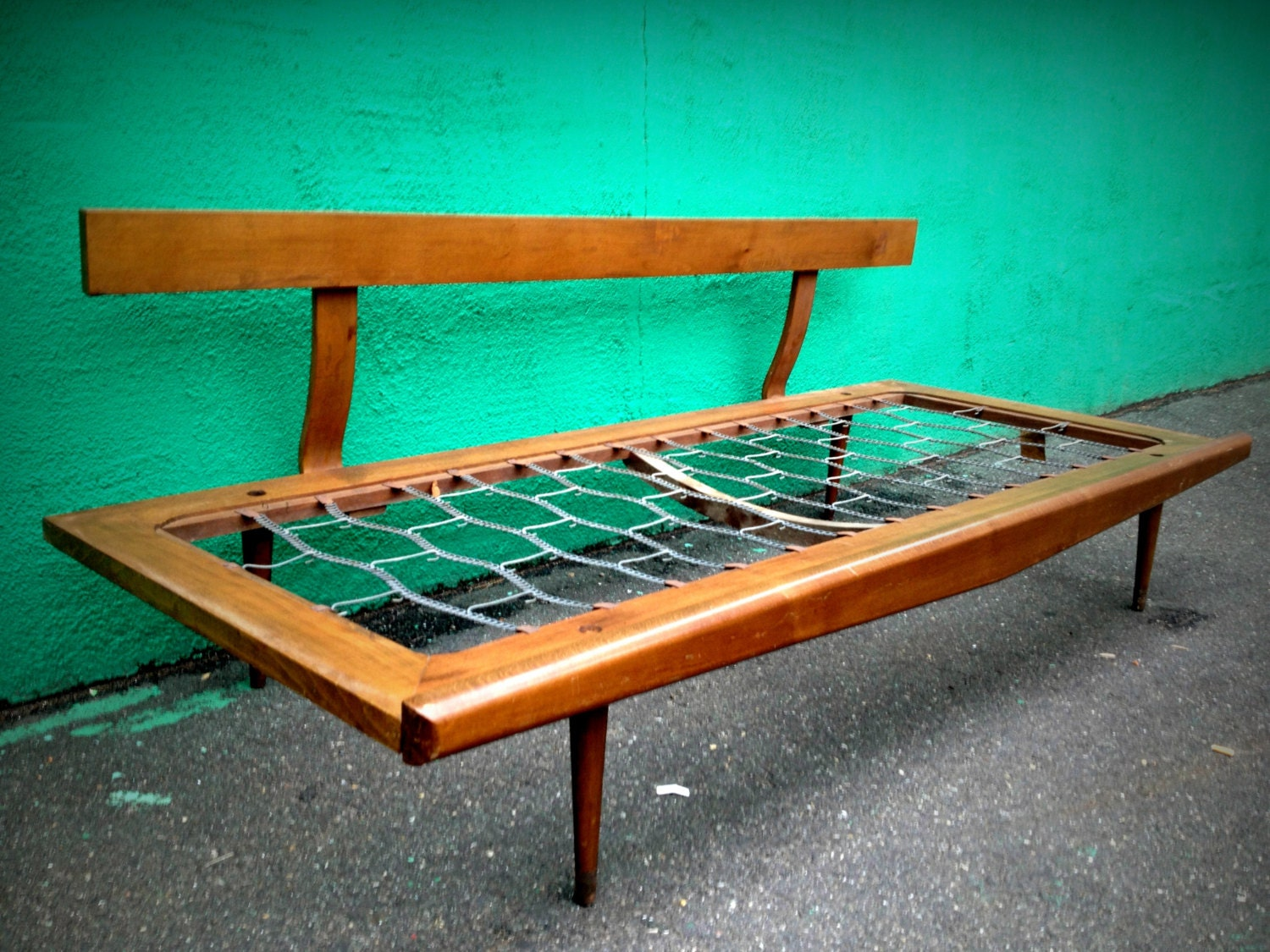 On Hold Vintage Mid Century Modern Day Bed Sofa Frame