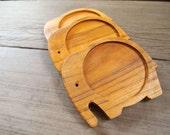 Elephant wood coaster set no.1