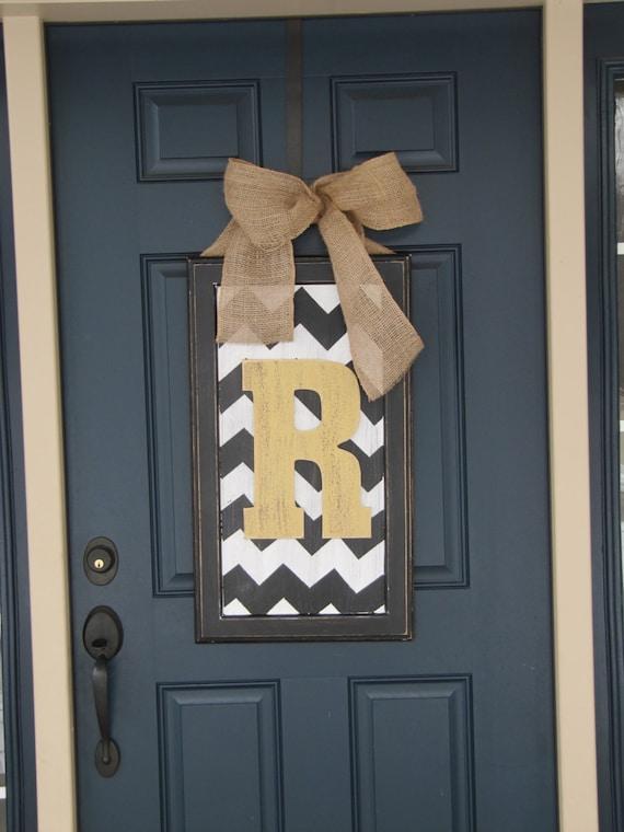 Spring Door Decor Large Chevron Wood Letter For Front Door