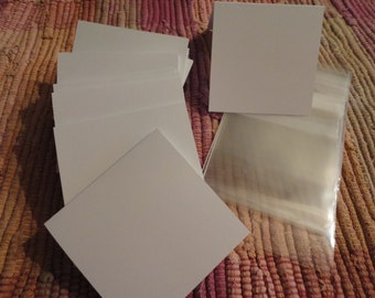 Blank Mini Cards White Set of 16