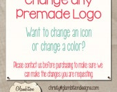 Make an illustration change any of our Premade Logo Designs