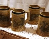 Set of 4 Vintage Steins Mugs Made in Japan