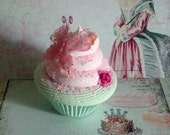 Mint Green and Pink Butterfly Fake Cupcake Photo Prop, Tea Party Whimsical Picture Sessi