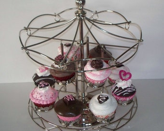 Pick one Fake Cupcake from the Merry Go Round for your Valentine Decor and Home Accents, Adorable Photo Props