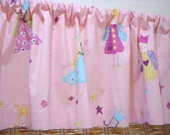 Laura Ashley Curtains Princess Fairy Curtain Pink Childrens Curtain Valance 52X15