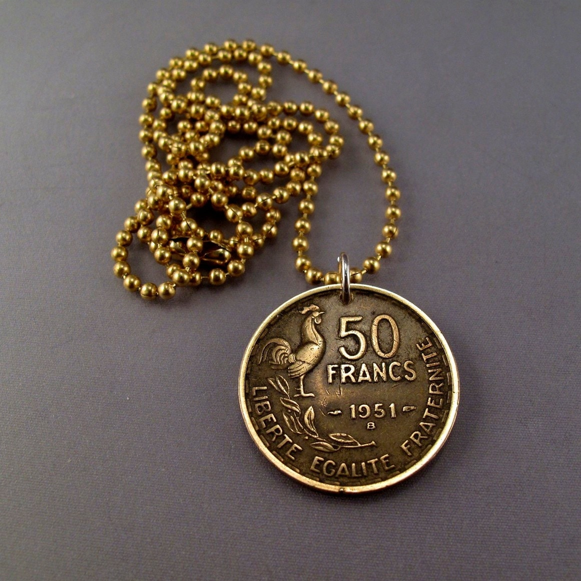coin jewelry coin necklace franc liberate egalite