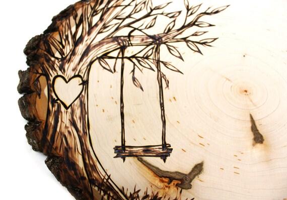 tree swing country design wood slice rustic theme wedding. Black Bedroom Furniture Sets. Home Design Ideas