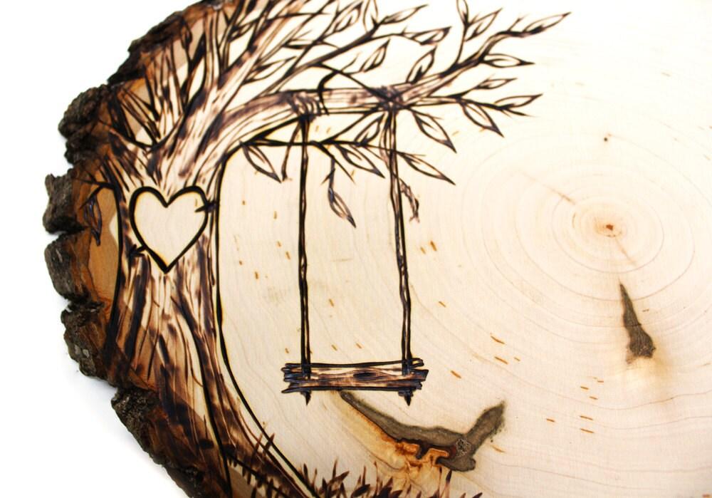 Tree Swing Country Design Wood Slice Rustic Theme Wedding