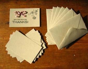 Small Kraft Cards with Envelopes Set - Blank, Set of 10