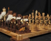Chess Set Nutcracker Chess Set on etsy custom carved     chess sets chess pieces chess boards