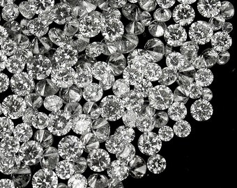 Bright Round Brilliant Cut Diamonds, 2.3 MM, .045 Carat Each, SI2, White, Below Wholesale, Priced Each