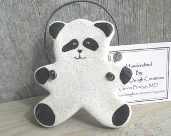 Panda Bear Salt Dough Ornament