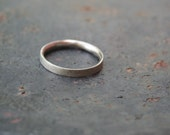 Oxidized Brushed Sterling Silver Simple 3 mm Thin Comfort Fit Band Men's Wedding Ring CUSTOM Size