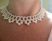 Pearl Wedding or Prom Necklace