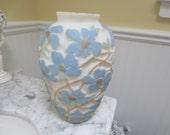 Vintage Lamp Base Raised Dogwood Floral Design phoenix Glass Company