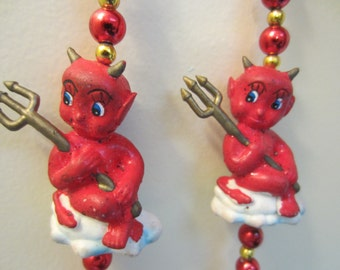 Vintage Rubber Devil Necklace Made in Germany