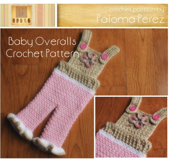 Crochet Baby Overall Patterns : INSTANT DOWNLOAD Crochet Baby Pants Pattern Baby by palomapch