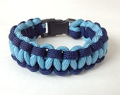 Navy & light blue Paracord bracelet