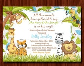 Jungle Baby Shower invitation and thank you card set