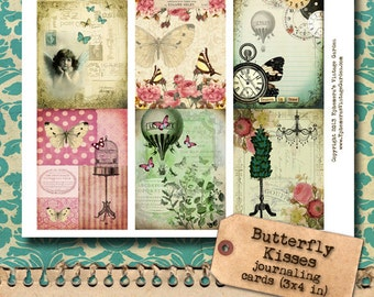 Whimsical Butterflies Hang Tags