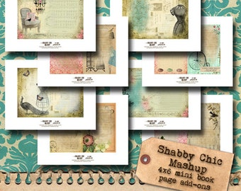 Printable Mini Book Pages - set of 8
