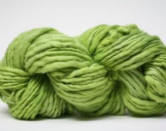 Thick and Thin Yarn Merino Slub Hand Dyed TTS 44tts13006 Granny Smith
