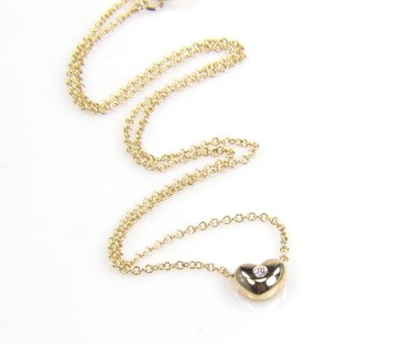 RESERVED FOR Brett - Diamond Heart Necklace