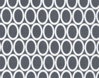 Half Yard Remix Ovals in Grey, Ann Kelle for Robert Kaufman Fabrics, 100% Cotton Fabric