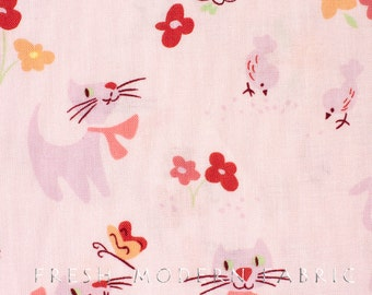 Half Yard Paris Paws in Pink, Monkey Bizness by Alexander Henry, 100% Cotton Fabric
