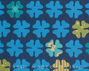 Half Yard Just Wing It Four Petals in Water, Momo for Moda Fabrics, 100% Cotton Fabric