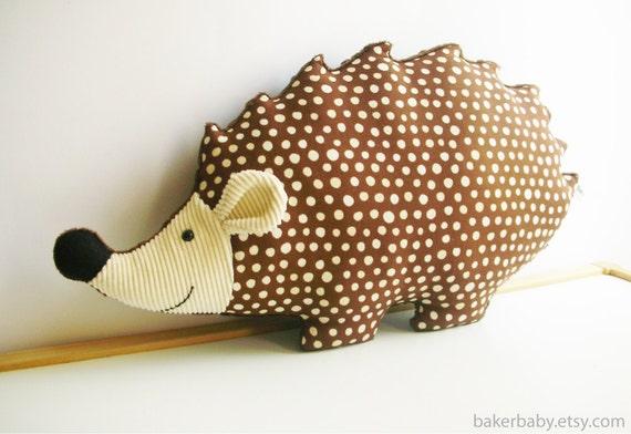 Hedgehog Nursery Woodland Nursery Decor Hedgehog Pillow