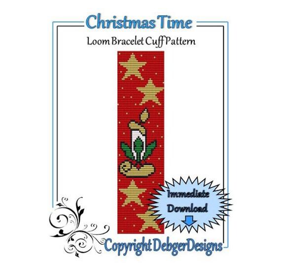 Christmas Time - Loom Bracelet Cuff Pattern