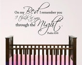 Nursery Bed wall graphic