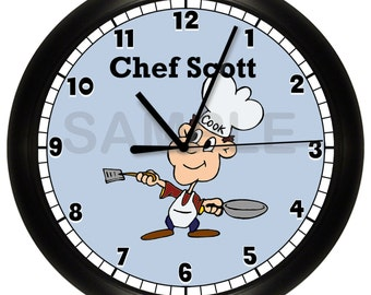 Personalized Chef WALL CLOCK