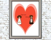 All's Fair in Love and Star Wars 8x10 print love, star wards, nerd, geekery, i love you i know