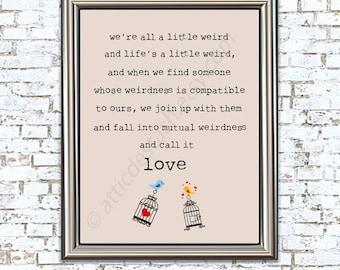 Mutual Weirdness 8x10 Love Bird Print