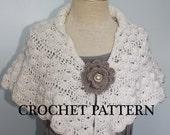 CROCHET PATTERN PDF to make Lacy Shoulder Shawl for Bridal party or prayer shawl