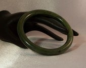 SALE Rich Spinach Green Jade Bangle Bracelet