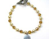 "Pearl Bracelet Ivory ""Pearls of Hope for Haiti"" Pearl and Crystal Bracelet"