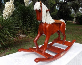 Handcrafted Wooden Rocking Horse - Legacy Pony Edition
