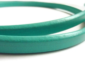 Emerald Leather Cord Licorice Leather Greek Leather Cord Thick Cord 8'' long S 40 017