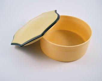 Vintage Hard Plastic Scalloped Edged Trinket Bath Powder Box