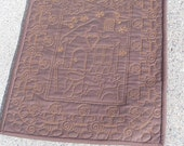 Gingerbread Man Quilted Table Runner, Candy Houses Table Runner, Christmas Table Topper