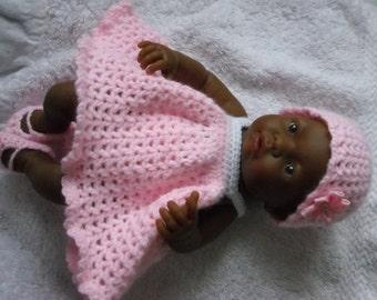 Crochet Pattern Baby Doll Clothes : Crochet pattern for Berenguer 9.5 inch mini la newborn ...