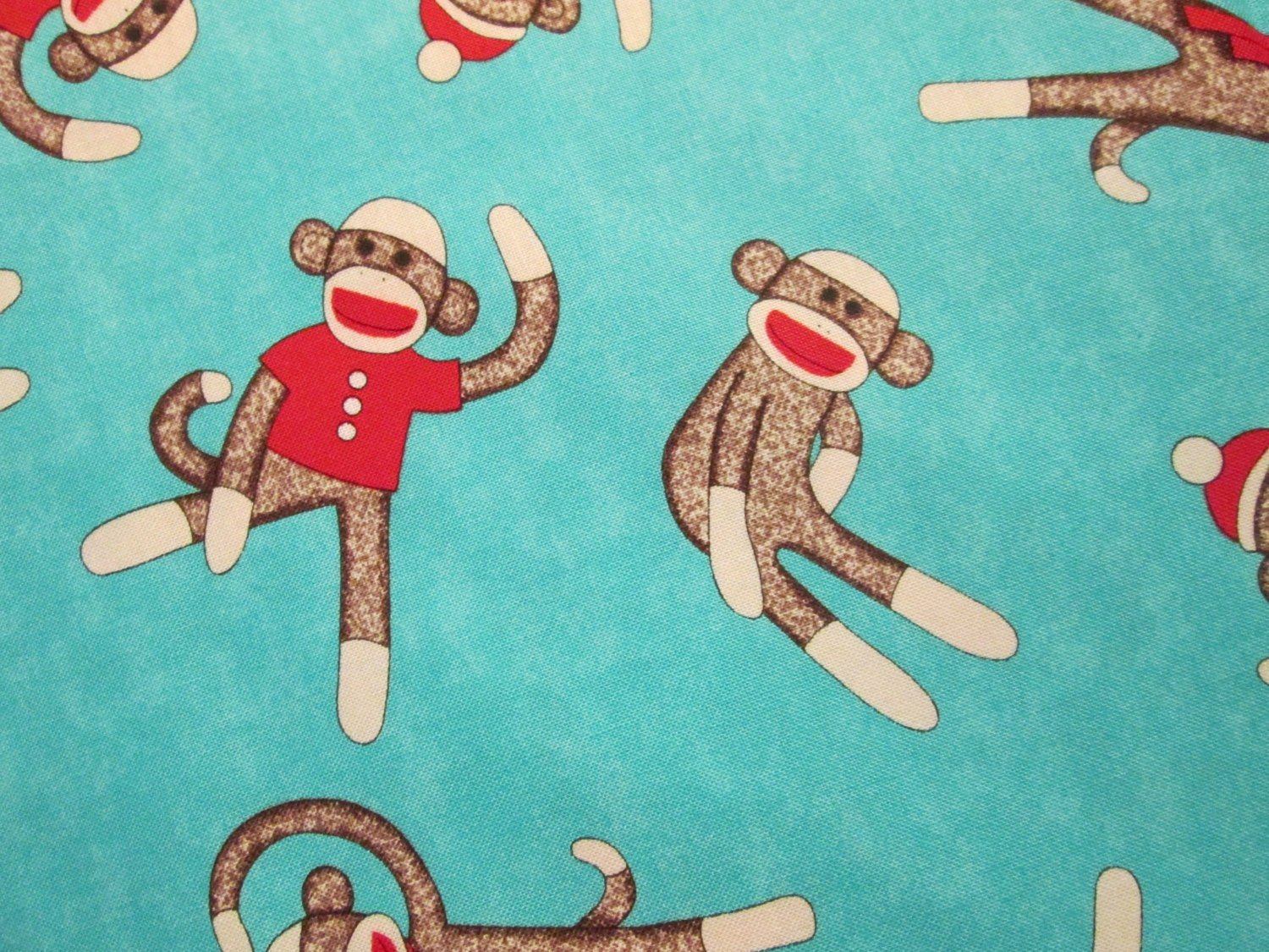 Chandeliers pendant lights for Baby monkey fabric prints