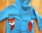 Fox in my Pocket Zip Up Hoodie/ Jacket/ Coat