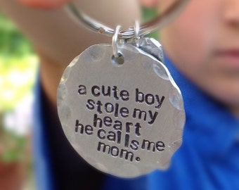 Mother's Day, Keychain, A cute boy stole my heart. He calls me mom.