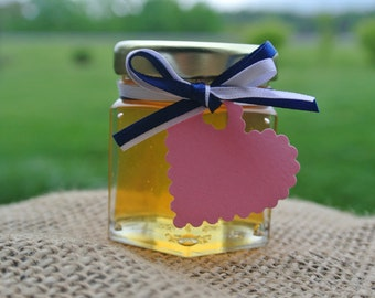 Wedding Honey Favors, Gift Hex Jar, 1 Sample Jar