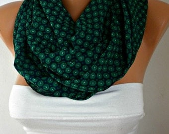 Emerald Green Infinity Scarf Teacher Gift Summer Circle Scarf Loop Scarf  Gift Ideas For Her Women's Fashion Accessories