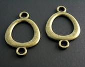 LINK-AB-OV-28MM - Antiqued Brass Oval Linking Charm - 6 pcs